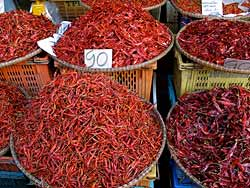 Dried Chillies at Sukhothai Market