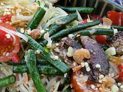 Salted Crab Green Papaya Salad