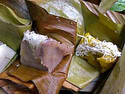 Snacks in Banana Leaves