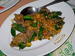 Spicy Stir-fried Ostrich at A Mallika
