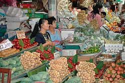 Fruit vendor at Or Tor Kor