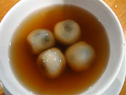 Sticky Rice Balls in Ginger Broth
