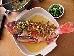 Fish, ready to be steamed