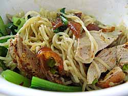 Duck Noodle Close-up