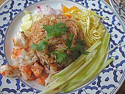 Thai rice dish with green mango
