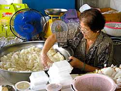 Serving Sticky Rice