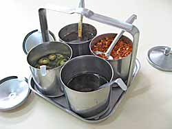 Metal Condiment Set