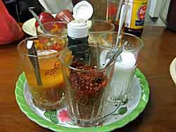 Condiment Set of Glasses