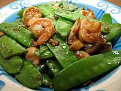 Snap Peas & Shrimp