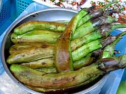 Roasted Green Eggplants