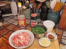 Basil Pork Ingredients