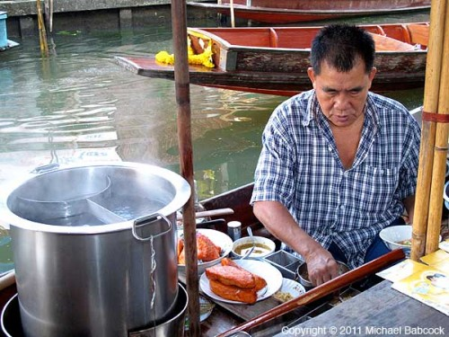 Making boat noodles