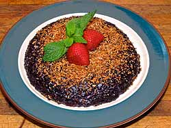 Black Sticky Rice Pudding