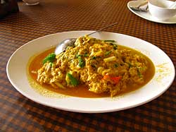 Crab in Yellow Curry
