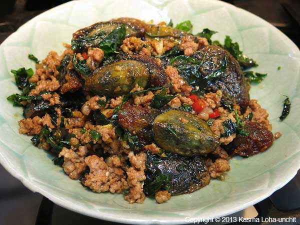 Stir-fried Black Eggs