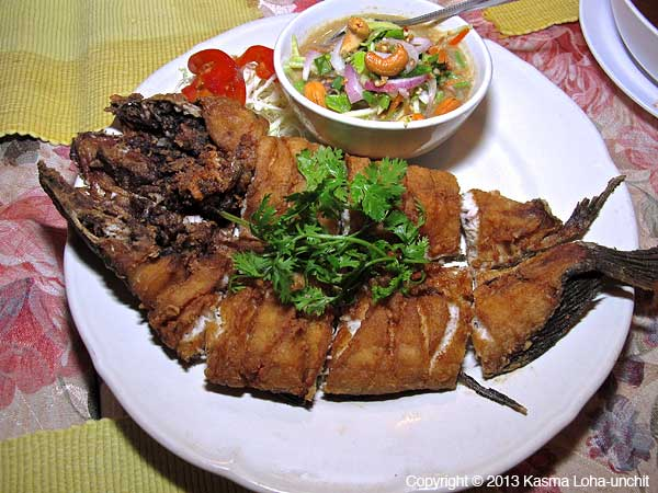 Fried Snakehead Fish