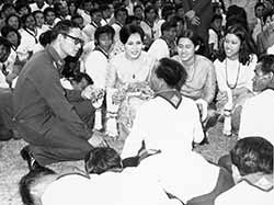 Rama IX with his people