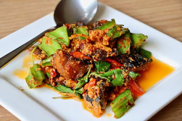 Spicy catfish dish