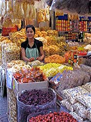 Woman vendor at a Thai market