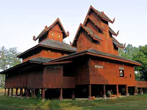 Phrae teakwood temple