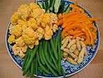 Vegetable platter for lahb