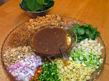 Ingredients for Miang Kam Ingredients