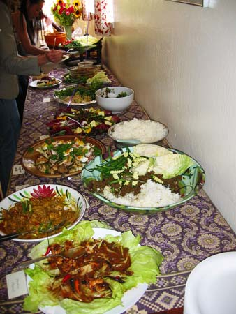 Thai food at party, buffet picture