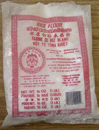 Bag of rice flour