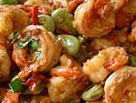 Shrimp Stir-fried with Sataw Beans