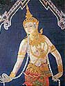 Thai Mural of woman