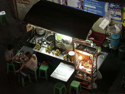 Night market food stall